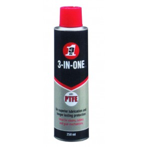 3-IN-ONE PTFE Lubricant 250ml Aerosol Can