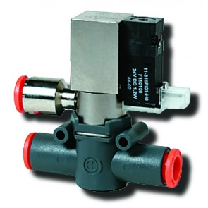 Line-On-Line Solenoid Valve 8mm 3/2 NC G1/8 Exhaust