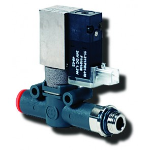 Line-On-Line Solenoid Valve 6m m to G1/8 with Silenced Exhau