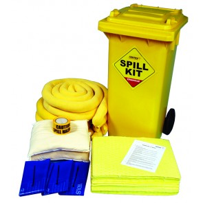 Chemical Spill Kit 125ltrs in Wheelie Bin