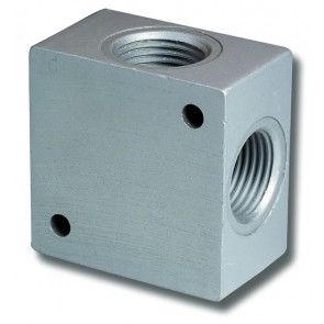 "Distributor 1/4""BSP Inlets to 3 x 1/8""BSP Outlets"
