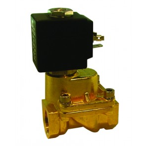 Normally Open Solenoid Valve G3/8 Ports 12mm Orifice