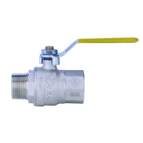 Lever Ball Valve Female/Female G1/2 Yellow Handle
