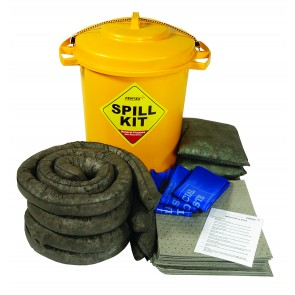General Purpose Spill Kit 125ltrs in Wheelie Bin