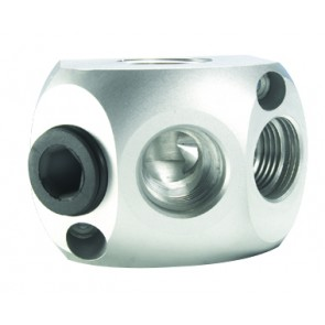 "Aluminium Wall Box 1/2""BSP IN, 2 x 1/2""BSP Outlets"