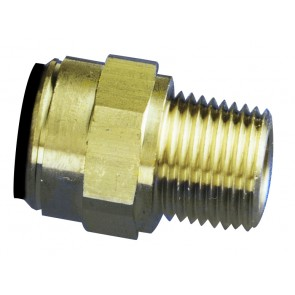 """Male Stud 15mm OD to 1/2""""BSP"""