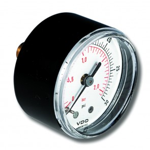 Pressure Gauge 50mm Dia. 0-2.5bar/psi G1/4 Connection
