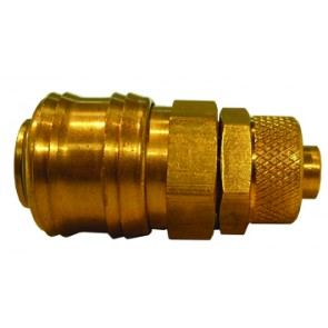 Brass Euro Coupling 9x12mm Tube Fitting