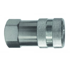 "Hydraulic Flat Face Coupling 12mm Body 1/2""BSP"