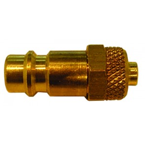Brass Euro Coupling Plug 4x6mm Tube Fitting