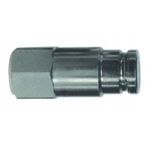 "Hydraulic Flat Face Plug 6mm Body 1/4""BSP"