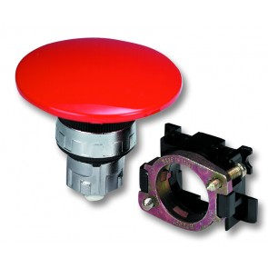 Push Button Actuator 60mm Dia. Red Twist to Unlock