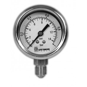 SS Gauge 50mm Diameter 0-1 bar/psi G1/4 Connection