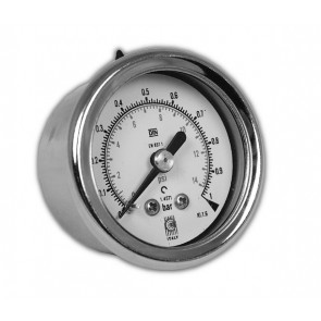 SS Gauge 50mm Diameter 0-2.5 bar/psi G1/4 Connection