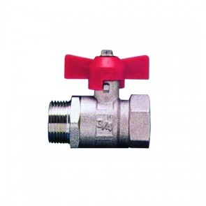 BVT12MF T-Handle Ball Valve G1/2 Male/Female