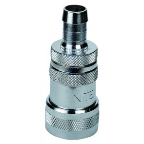 """NITO 1/2"""" System Coupling Inte gral 1/2""""Hosetail & Stop Valv"""