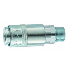 """PCL Standard Coupling 1/4""""BSPT Male Thread"""