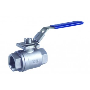 """BV2SS34P 2-PC Ball Valve with ISO Mounting Pad 3/4""""BSP Ports"""