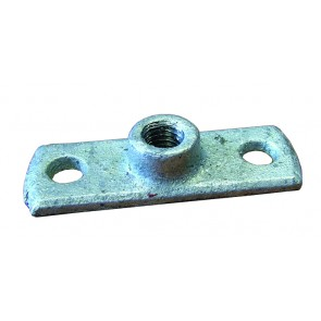 M10 Tapped Back Plate Galvanised