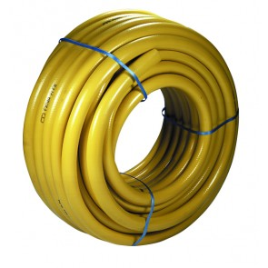 """1/2""""-13mm Yellow Rubber Compressed Air Hose 20Bar 25mtr"""
