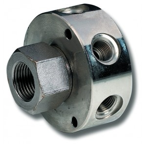 """Rotary Joint 3/8""""BSP Inlet to 3 x 1/4""""BSP Outlets"""