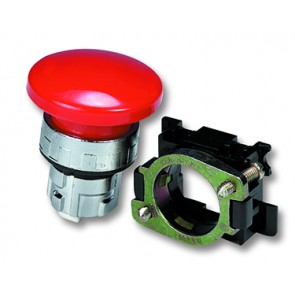 Push Button Actuator 40mm Dia. Red Mono Stable