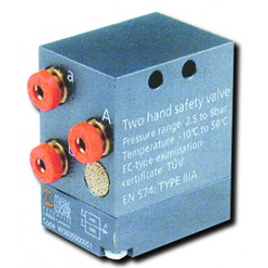 Two hand safety valve